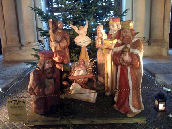 A aby sme nezabúdali na pravú podstatu Vianoc: Betlehem v Primaciálnom paláci.