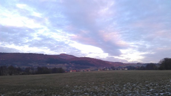 Dnešná detvianska zimná obloha.