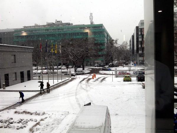 Výhľad z okna SPP