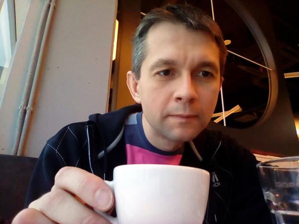 Selfie pri káve
