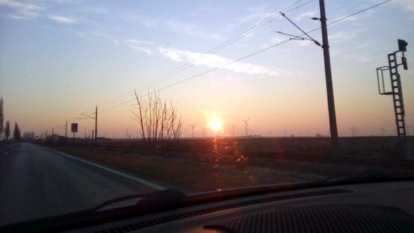 Východ slnka v Rakúsku
