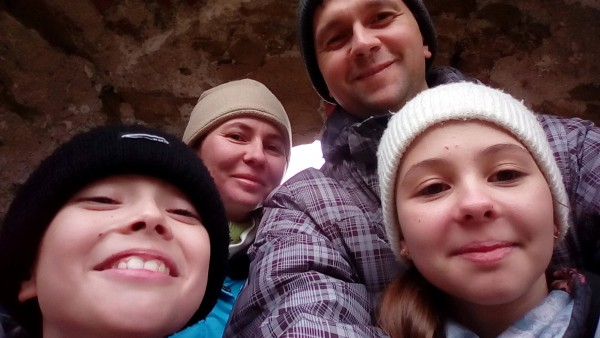 Hrad Šášov - selfie