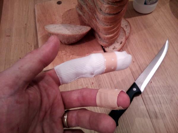 Porezaný prst