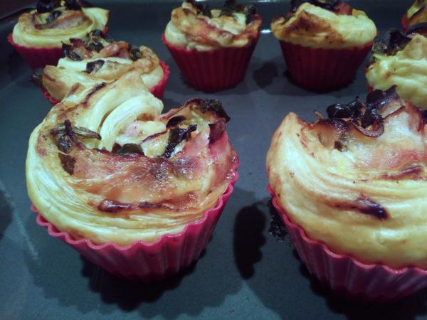 Muffiny z lístkového cesta